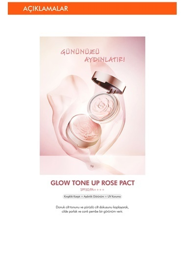 Missha Glow Tone Up Pact Spf 50 Aydınlık Görünüm Sağlayan Krem Kapatıcı Renksiz
